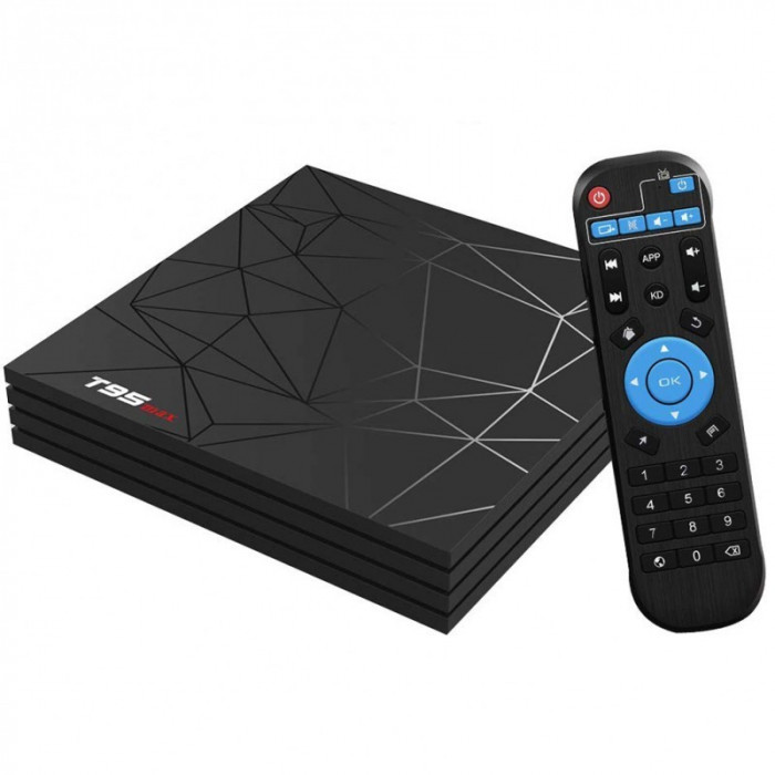 TV Box T95 Max Mini PC Quad Core ARM Cortex A53, 2GB Ram/ 16GB ROM, 6K UltraHD, Android 9.0, HDR