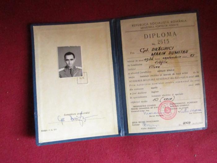 diploma de inginer a capitanului draghici semnata de generalul tutuveanu x14