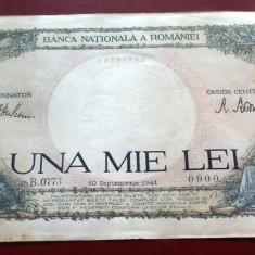 Bancnota ISTORICA 1000 LEI - ROMANIA, anul 1941   *cod 106 B  - CIRCULATA