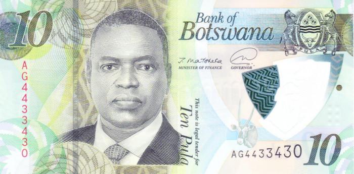 Bancnota Botswana 10 Pula 2020 - PNew UNC ( polimer )
