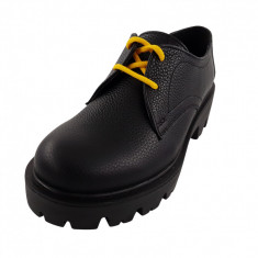 Pantofi oxford dama, SandAli, piele natura bizon, talpa usoara, crampoane mari,...