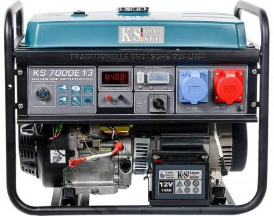 Generator profesional mono/trifazat 5.5 kW, KS 7000E1/3 Könner & Söhnen,benzina foto