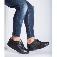 Sneakers piele naturala Negru 44