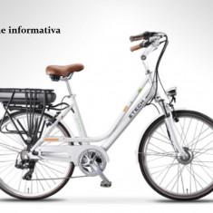 Bicicleta electrica cu cadru aluminiu ZT-77 M LETIZIA-M NEGRU