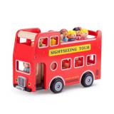Autobuz turistic cu 9 figurine, New Classic Toys