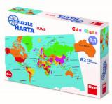 Cumpara ieftin Puzzle geografic, Harta Lumii, 82 piese