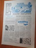 ziarul clubul martienilor anul 1,nr.1 din 17 martie 1990-rebus,umor,stiri