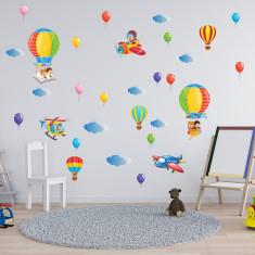 Set 32 Stickere copii - Baloane  60x90cm plansa, STKWAC0003