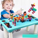 Cumpara ieftin SUPER SET MASA DE LUCRU CU PIESE TIP LEGO,UN CADOU MINUNAT 3-9 ANI,CREATIE WAW!!
