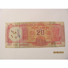 CY - 20 rupees rupii 1975 India