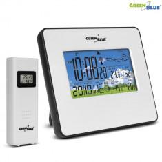 Statie Meteo DCF Wireless cu Afisaj Temperatura, Umiditate, Data, Culoare Alb
