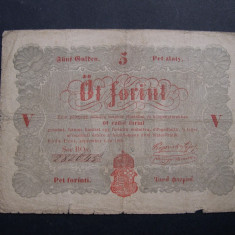 Ungaria  5 forint  1848  septembrie  1  Budapesta   BOv