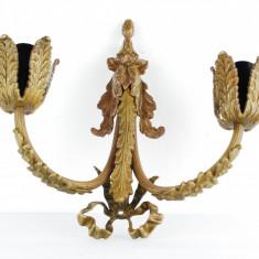 Aplica frantuzeasca bronz veche 2 lumini Empire