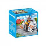 Set Playmobil City Life Rescue - Motocicleta de urgenta cu lumini