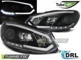 Faruri compatibile cu VW GOLF 6 10.08-12 Negru TUBE LIGHTS TRU DRL