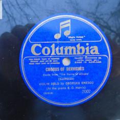 George Enescu  vioara Chorus of dervishes/Albumblatt disc patefon gramofon