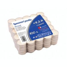 Lumanari pastila albe timp ardere ~4.5h ( 100buc/set)