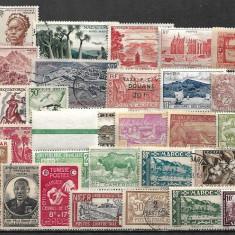 6020 - lot timbre colonii franceze