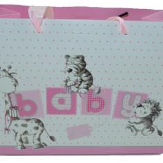 Punga pentru cadouri-Midex Baby Girl PCM7-R, Roz
