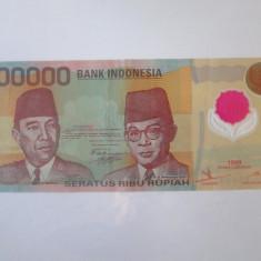 Rara! Indonezia 100000 Rupiah 1999 polymer