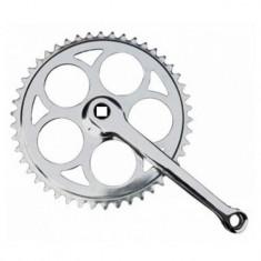 Angrenaj pedalier cu 1 foaie, ax patrat, 46T, YTGT-50053