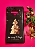 Cumpara ieftin Husa de protectie Samsung Note 9 2018 Model de Craciun 3D Brad Gold Personalizata