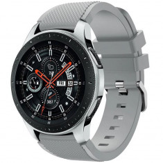 Curea ceas Smartwatch Samsung Gear S3, iUni 22 mm Silicon Grey