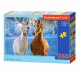 Puzzle Winter Horses, 260 piese, castorland