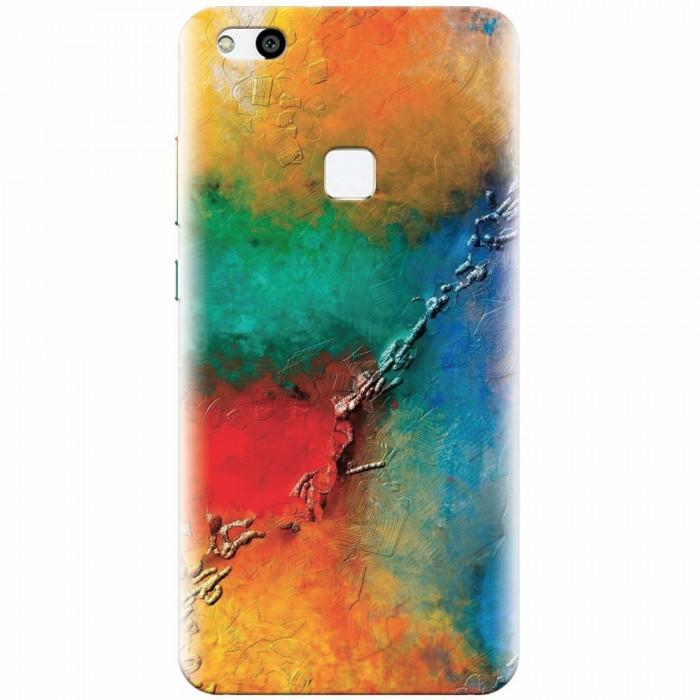 Husa silicon pentru Huawei P10 Lite, Colorful Wall Paint Texture