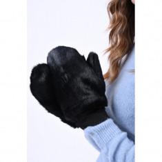 Manusi Vero Moda Edy Faux Fur Black