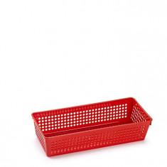 Cutie dreptunghiulara din plastic diverse intrebuintari-rosu