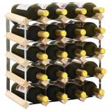 vidaXL Suport sticle de vin pentru 20 sticle, lemn masiv de pin