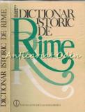Cumpara ieftin Dictionar Istoric De Rime - Olimpia Berca