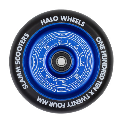Roata trotineta Slamm 110mm Halo Deep Dish Blue + Abec 9 foto