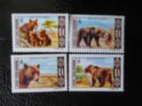 Mongolia-ursi -serie completa-nestampilate, Nestampilat