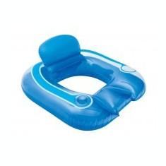 Fotoliu gonflabil pentru plaja, cu perna si suport de pahar