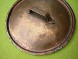 Capac vechi, suedez din cupru pentru oale 2