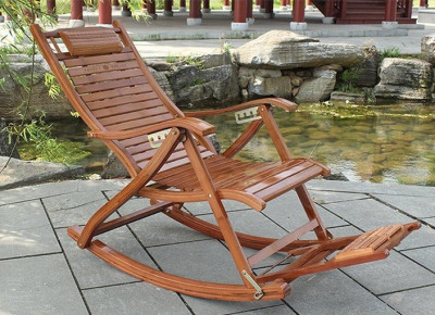 Balansoar de terasa/living lemn ajustabil cu cadru rezistent foto