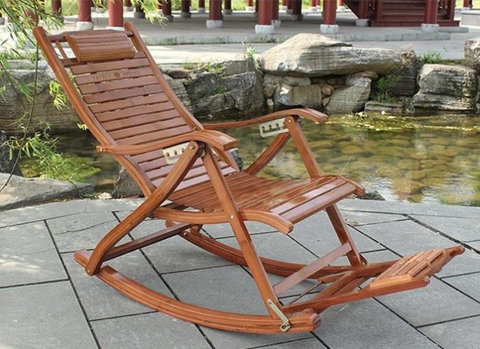 Balansoar de terasa/living lemn ajustabil cu cadru rezistent
