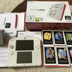 Nintendo 2DS La cutie FULLBOX Modat cu Mario , Pokemon X , Y , Zelda , Mario,etc