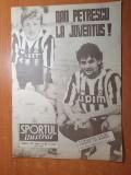 sport martie 1991-dan petrescu la juventus,articol echipa universitatea craiova