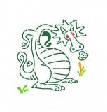 Sabloane pentru desen,Djeco Dragoni