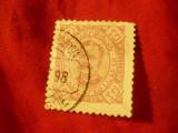 Timbru Cabo-Verde colonie portugheza 1894 , Carlos I ,val.10reis stampilat