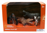 Set 4 figurine Gorila, Crocodil, Pui Zebra si Hipopotam National Geographic, 3 ani+