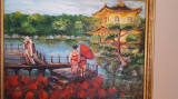 "PICTURA, tablou romantic nou,""Geishe in Kyoto"",  pictor roman consacrat"