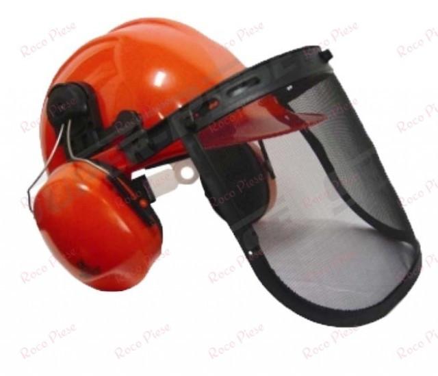 Casca protectie motocoasa + casti antifonice (cal.1)
