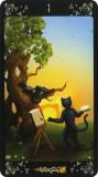 Pisicile negre-Carti de Tarot/ORIGINAL/sigilat,ed lim-imagini superbe