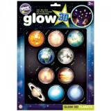 Stickere 3D Planete The Original Glowstars Company, 3 ani+