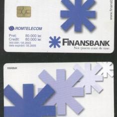 Romania 2003 Telephone card FinansBank Rom 195 CT.029