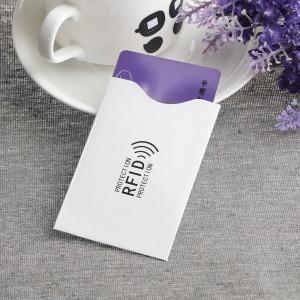 Folie protectie credit card bancar, contactless, culoare alb